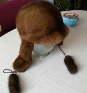 Норковая шапка очень теплая
