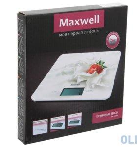 Кухонные весы. Новые. Maxwell MW-1455 PK