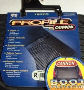 Коврики автомобильные  задние резиновые Cannon