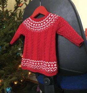 Платье вязаное 0-3 мес mothercare