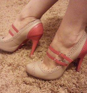 Кожаные туфли svetski 37р