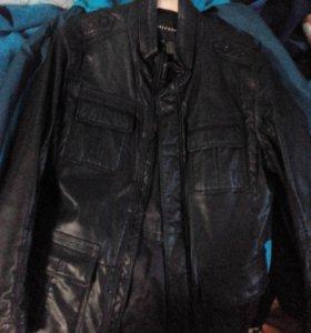 Пальто,Курта кожанная