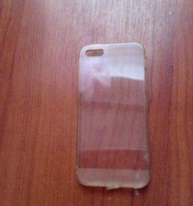 Прозрачный силиконовый чехол для iPhone 5s  б/у