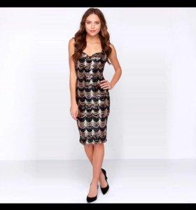 Платье новое с пайетками, вечернее