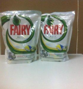 Капсулы для посудомоечных машин fairy 39 капсул