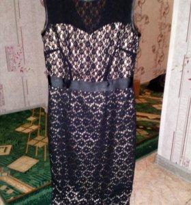 Платье вечернее,цвет черный,подклад-золото