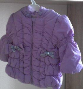 Куртка теплая 86 р-р