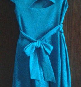Берюзовое платье.