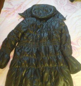 Куртка чёрная удлинённая (40-42 р-р)