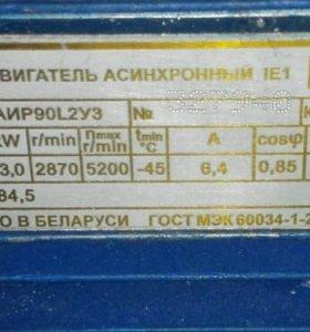 Электродвигатель АИР 90 L2 3000 об, 3 кВт, 3ф