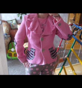 Новый розовый шерстяной Бохо жакет