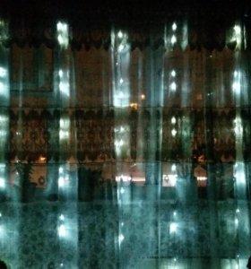 Гирлянда светодиодная занавес штора водопад дождь
