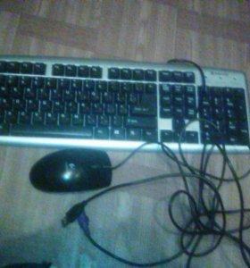 Продам клавиатуру с мышкой  всё в рабочем состояни
