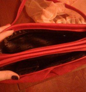 Замшевая сумка .
