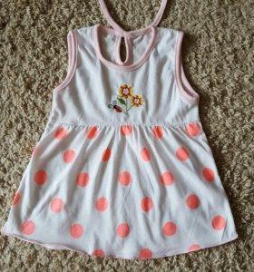 Хлопковое новое платье