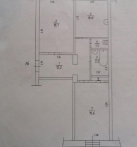 Продам 2 комнатную квартиру 63 кв