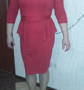 Платье с баской,р-р 48-50
