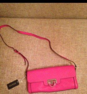 Оригинальная новая сумка клатч Guess