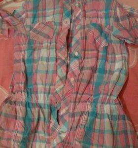 Рубашка для девочки 8-9лет