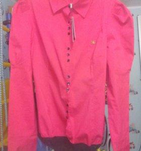Рубашка боди красная, блузка