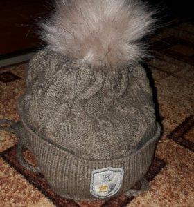 Зимняя шапка 3-5 лет