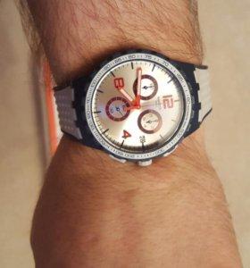swatch часы хронограф