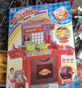 Кухня детская на батарейках  66*73см