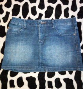 2 джинсовые юбки