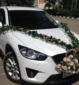 Катаю свадьбу на белоснежной mazda cx -5