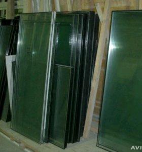 Стеклопакеты б/у и новые (стекла без рам)