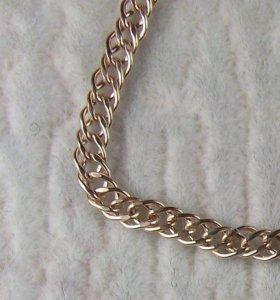 Золотой браслет двойной ромб