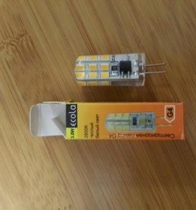 Светодиодная лампа G4 Ecola 3w