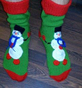 ВЯЗАНЫЕ Новогодние носки на заказ