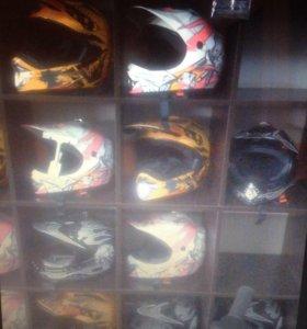 Шлем детский кроссовый новый