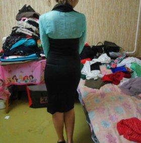 Офисное платье-блузка