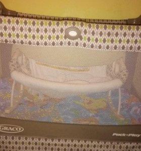 Кроватка манеж грако