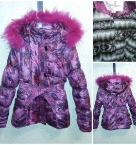 Куртка зимняя девочке 7-9лет