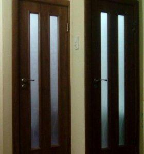 Установка межкомнатных дверей и укладка ламината