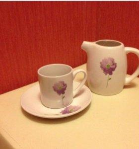 Набор кофейный новый (3 предмета)