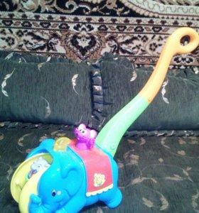 """Каталка с ручкой """"Цирковой слон"""" Kiddieland"""