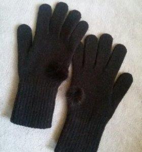 Перчатки с норочкой (шерсть)