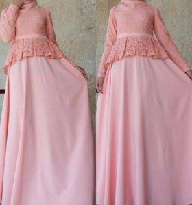 Зефирное платье на никах