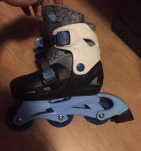 Ролики детские новые + шлем