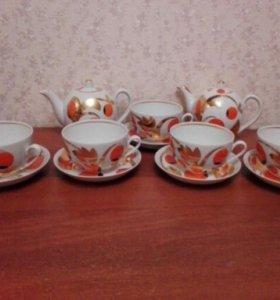 """Чайный сервиз """"Яблоки""""  Вербилки."""