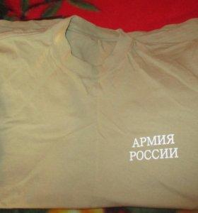 2 военных футболки с коротким рукавом