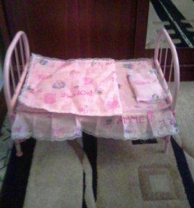 Кроватка для кукол складная