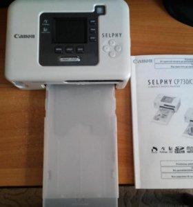 Компактный цветной фото принтер CANON SELPHY CP730