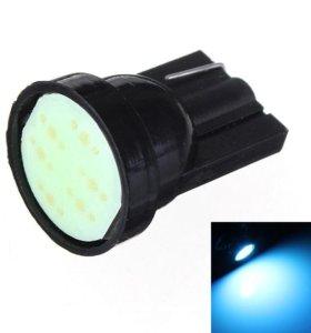 @ Лед синий 1 LED SMD cob Т10 W5W в габариты