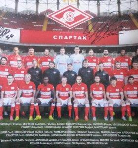 Подпись-постер ''Спартак''.