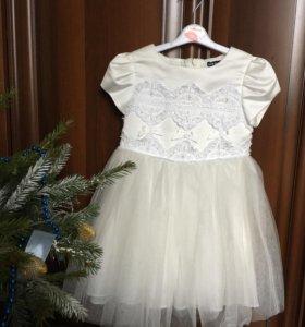 Платье снежинки David Charles 98-104см